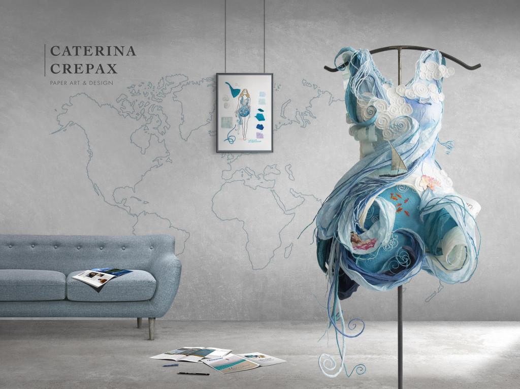 caterina crepax lavori arte abiti di carta intervista