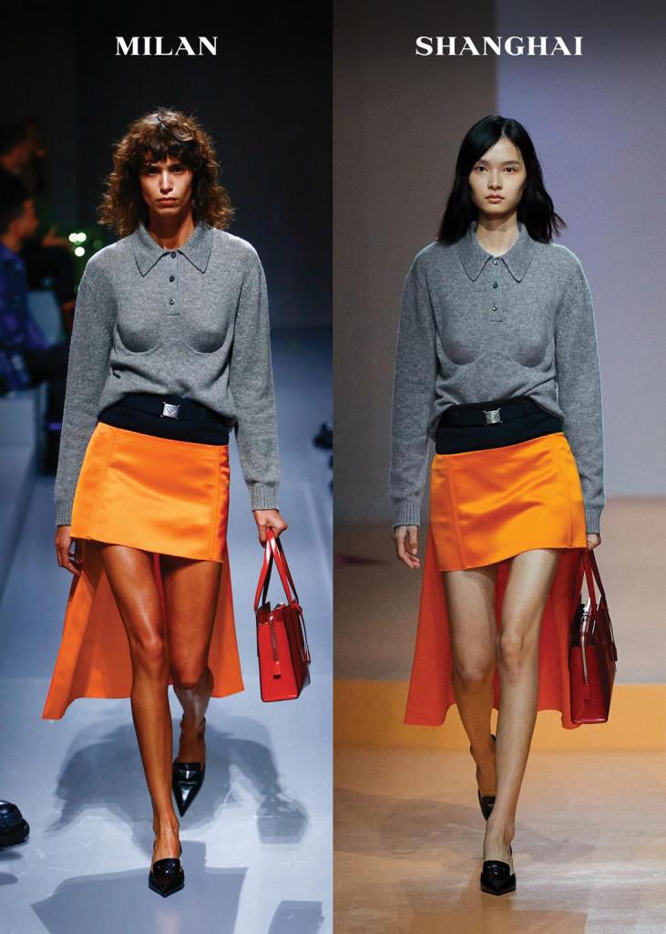 sfilata prada primavera-estate 2022 collezione donna milano fashion week