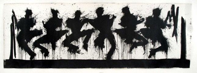 Jumpers Compressed, Richard Hambleton