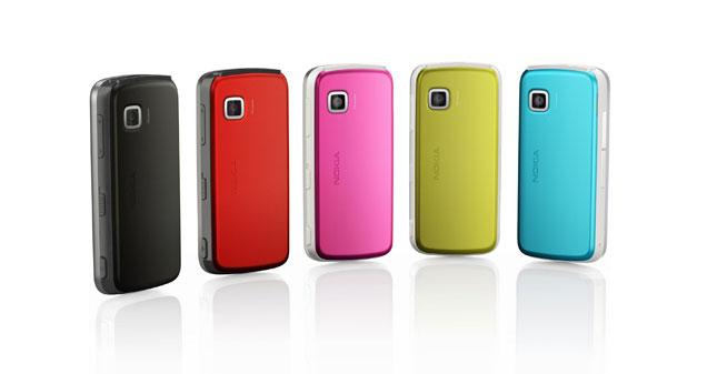 La gamma di colori del nuovo Nokia 5230