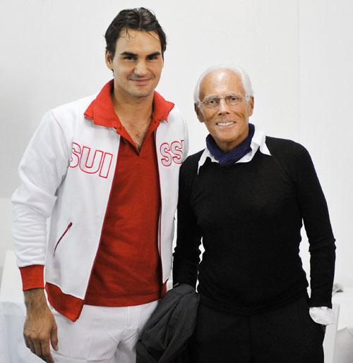 Roger Federer e Giorgio Armani