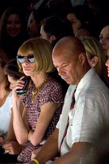 Anna Wintour (Vogue Usa) e Michael Roberts (Vanity Fair USA)