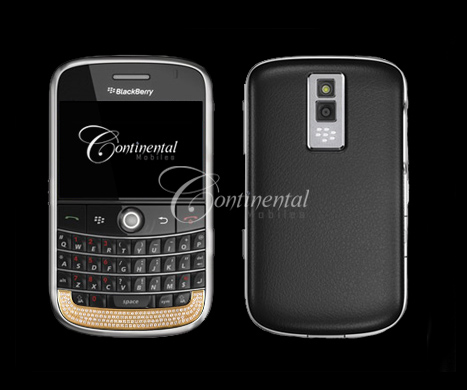 Blackberry Bold 24k Yellow Gold Diamond Luxury