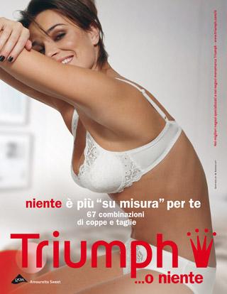Alena Seredova per la nuova campagna Triumph