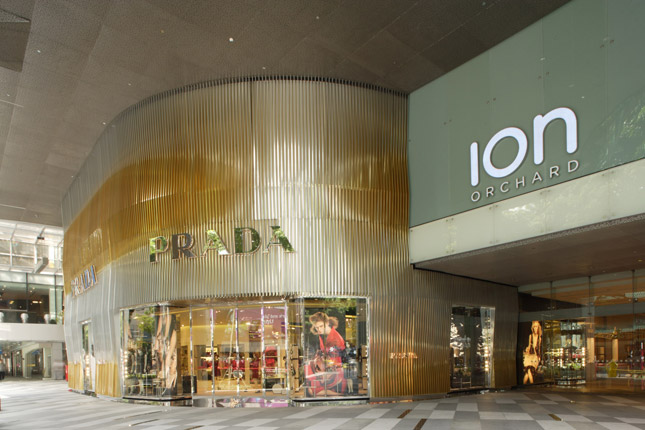 Ingresso boutique Prada a Singapore