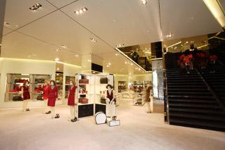 Interno boutique Prada a Singapore
