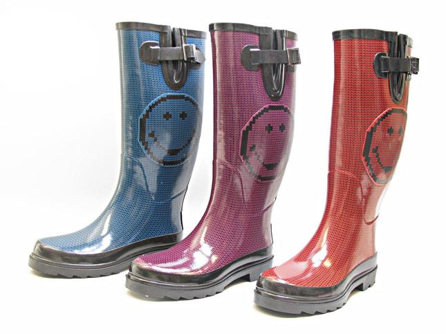 Smiley Rainboots