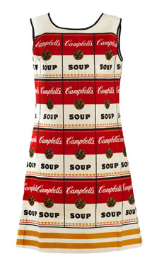Abito senza maniche A-line con logo Campbell Metà anni 1960