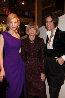 Cate Blanchett, Anna Wintour e Roberta Armani