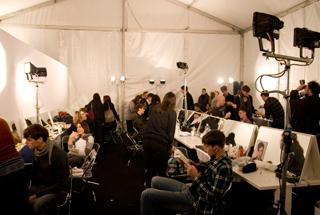 Backstage Burberry Prorsum