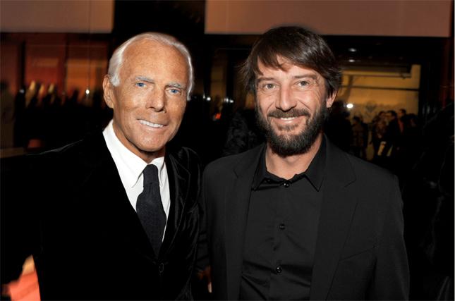 Giorgio Armani e Giovanni Soldini