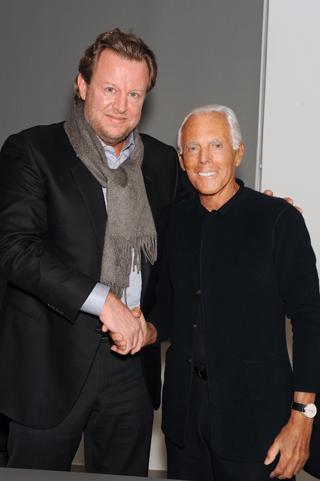 Uli Becker e Giorgio Armani