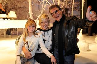 Roberto Cavalli con Natasha Stefanenko e Sasha