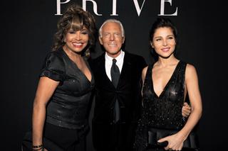 Tina Turner, Giorgio Armani e Roberta Armani