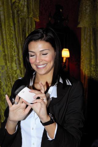 Cristina Chiabotto e il suo BlackBerry® Curve 8520