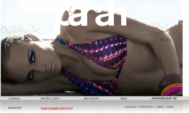 Home page sito Parah