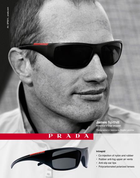James Spithill per Prada Linea Rossa eyewear