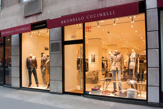 Boutique Brunello Cucinelli a New York in Madison Avenue