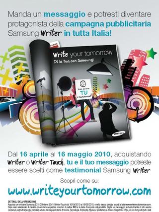 Message Casting: diventa il nuovo testimonial Samsung