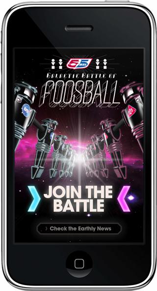 Galactic Battle of Foosball su iPhone e iPod Touch