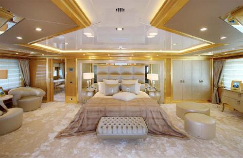 Lo yacht lady lara benetti decorato by fendi casa for Salotti da sogno