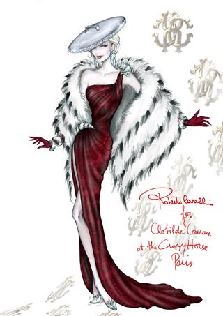 Roberto Cavalli per Clotilde Courau