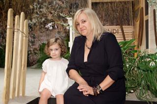 Silvia Venturini Fendi e la nipotina Emma