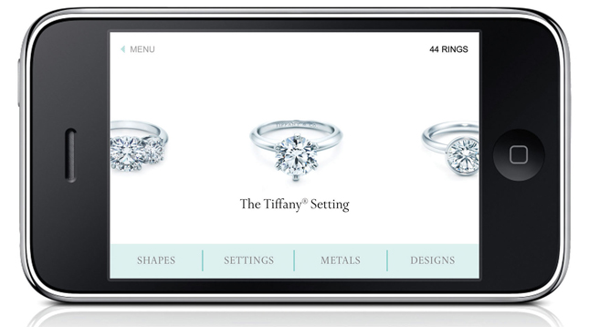 iPhone App Engagemenr Rings by Tiffany & Co.