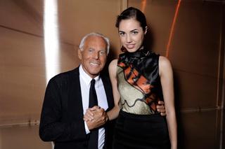 Giorgio Armani e Amber Le Bon