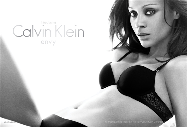 Zoe Saldana per la campagna di Calvin Klein Underwear Envy - © 2010 Mikael Jansson