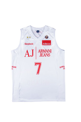 Reebok per l'Olimpia Milano Armani Jeans