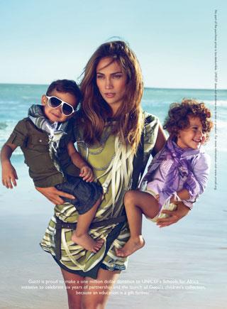 Jennifer Lopez per Gucci Kids