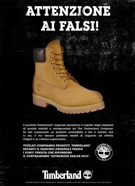 Campagna anti-contraffazione di Timberland