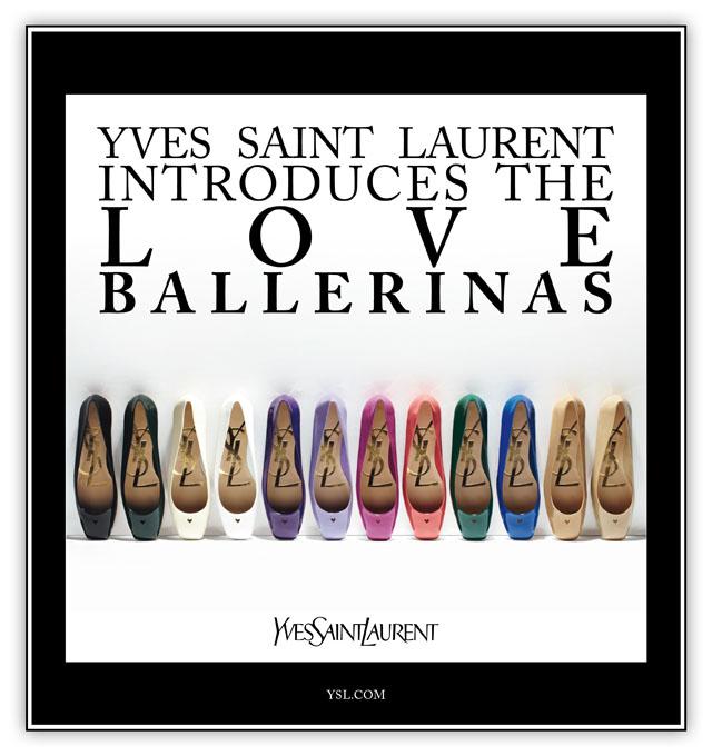 Love Ballerinas by Yves Saint Laurent
