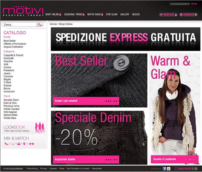 Shopping online su Motivi.com