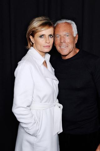 Isabella Ferrari e Giorgio Armani