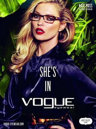 Kate Moss per Vogue Eyewear