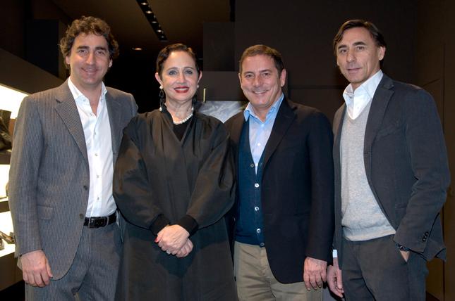 Rebecca Roses con Luca, Diego e Dario Rossetti