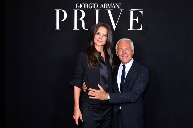 Giorgio Armani e Katie Holmes