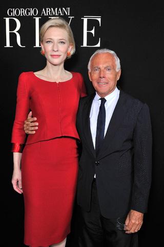 Giorgio Armani e Cate Blanchett