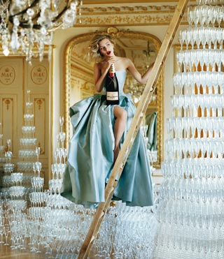 Scarlett Johansson per Moët & Chandon