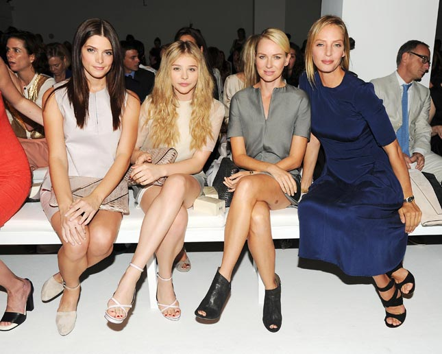 Ashley Greene, Chloe Moretz, Naomi Watts, Uma Thurman