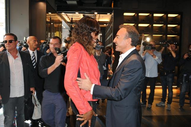 Naomi Campbell e Antonio Gallo