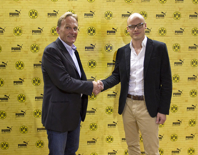Franz Koch (CEO Puma) e Hans-Joachim Watzke (Borussia Dortmund)