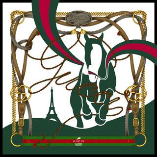 Foulard Gucci per i Gucci Masters