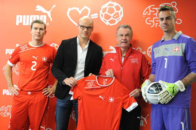 Presentazione della nuova maglia della Svizzera firmata Puma