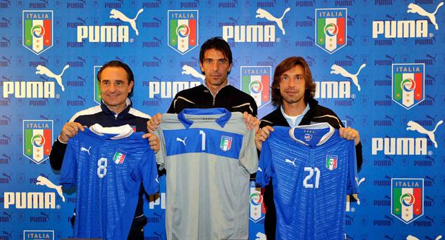 Cesare Prandelli, Gianluigi Buffon e Andrea Pirlo