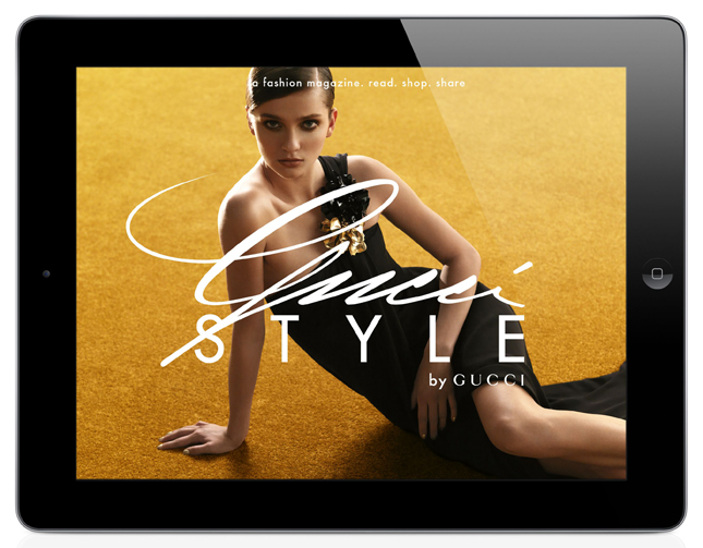 Gucci Style: The Magazine Interactive for IPad and IPhone