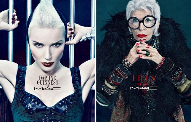 Daphne Guinness e Iris Apfel per MAC Cosmetics