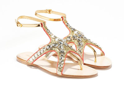 Sandali Crystal super flat per l'estate Miu Miu